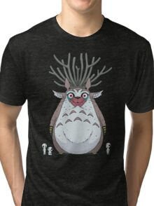 Deer God Totoro Tri-blend T-Shirt