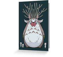 Deer God Totoro Greeting Card