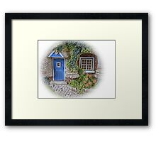 Miniature Cottage #2 Welcome Framed Print
