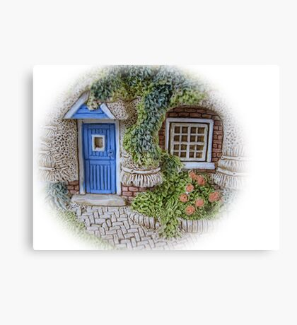 Miniature Cottage #2 Welcome Canvas Print