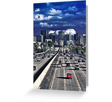 5 pm, downtown next exit..... Greeting Card
