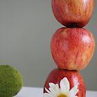 Three Apples, a Daisy and a Wrinkly Lemon by Carol James