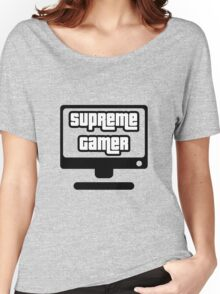 Supreme Gamer (White) Women's Relaxed Fit T-Shirt