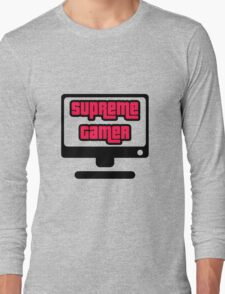 Supreme Gamer (Red-Pink) Long Sleeve T-Shirt
