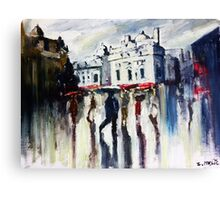 London on a rainy day Canvas Print