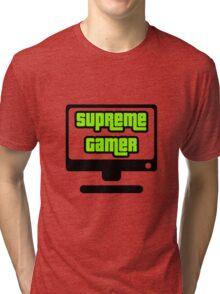 Supreme Gamer (Green) Tri-blend T-Shirt