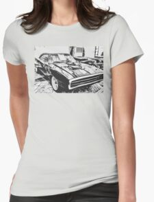 1970 Dodge Charger Womens Fitted T-Shirt