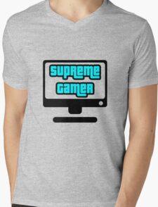 Supreme Gamer (Blue) Mens V-Neck T-Shirt