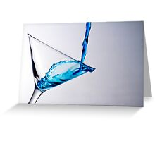 clear blue Greeting Card