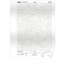 USGS Topo Map Oregon Crow 20110824 TM Poster