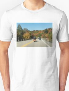 Joyful Autumn Ride - Bikers Know the Best Roads T-Shirt