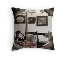 Bobby Through The Looking Glass Throw Pillow