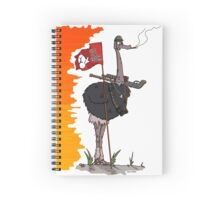 """The """"Save Our Eggs!!!"""" Ostrich Spiral Notebook"""
