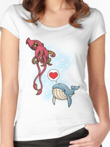 SUSHI... LOVE. Women's Fitted Scoop T-Shirt