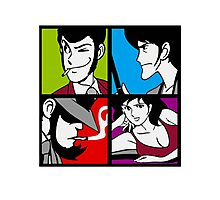 Lupin the third and his friends Photographic Print