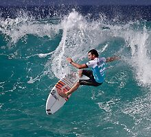 Joel Parkinson At 2010 Billabong Pipe Masters In Memory Of Andy Irons by Alex Preiss
