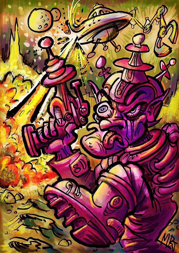 Attack of the SaucerMen by Matt Bissett-Johnson