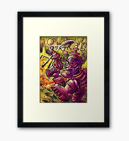 Attack of the SaucerMen Framed Print