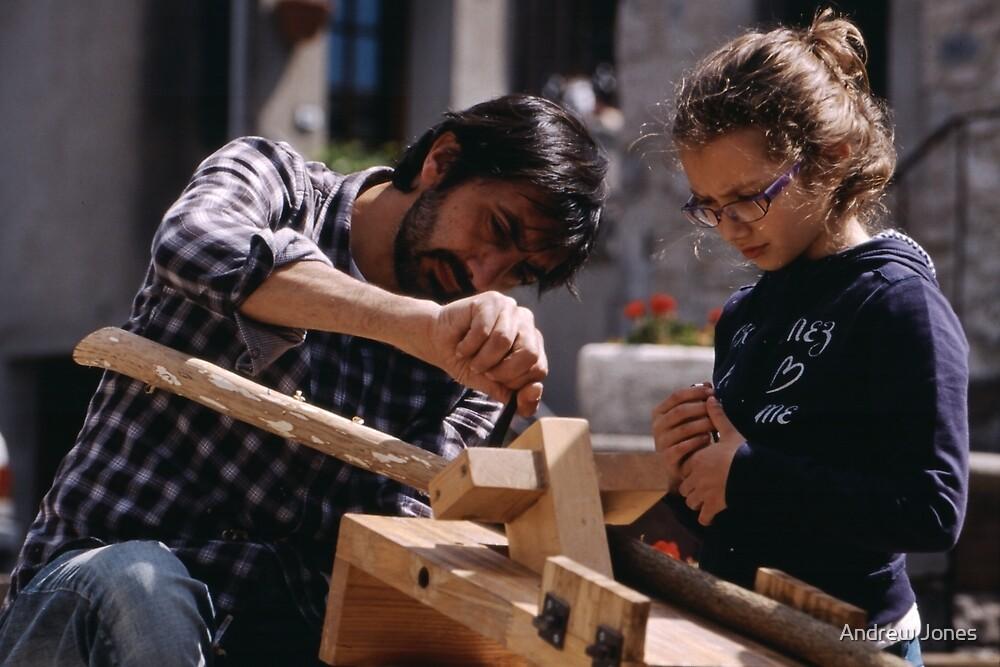 Learning a new skill, Radicofani, Tuscany, Italy by Andrew Jones
