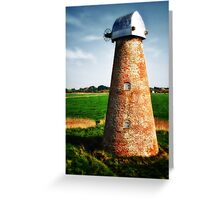 Water pump powered by wind, Suffolk Greeting Card