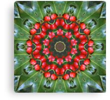 Holly Kaleidoscope Canvas Print