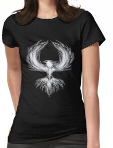 The Mythical Phoenix (b/w) Womens Fitted T-Shirt