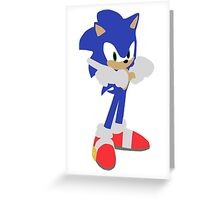 Sonic The Hedgehog (Vector Graphic) Greeting Card