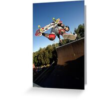 Backside Judo Air Greeting Card