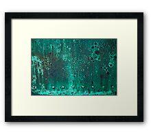 Green Stars - Aged Copper Door Framed Print
