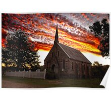 Sunset over St Paul's- Hill End Poster