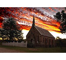 Sunset over St Paul's- Hill End Photographic Print