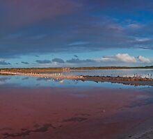 Abandoned Salt Farm, Coorong, South Australia by Neville Jones