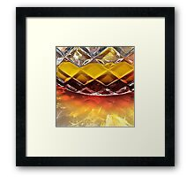 Sparkling layered jelly Framed Print