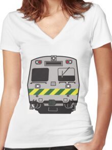 Hitatchi Train Melbourne Women's Fitted V-Neck T-Shirt
