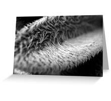 Furry Leaf Greeting Card