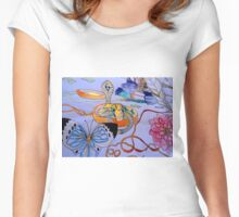 SNAKE CHARMER Women's Fitted Scoop T-Shirt