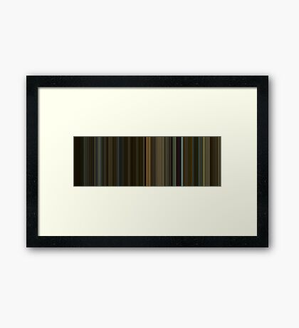 Moviebarcode: The Social Network (2010) [Simplified Colors] Framed Print