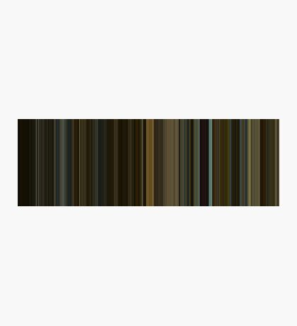 Moviebarcode: The Social Network (2010) [Simplified Colors] Photographic Print