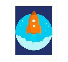 Rocket Ship  Art Print