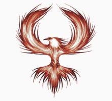 The Mythical Phoenix (flame) Kids Tee