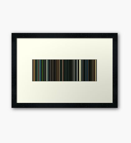 Moviebarcode: Sunshine (2007) [Simplified Colors] Framed Print