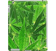 hemp leaf collage iPad Case/Skin