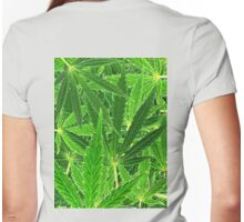hemp leaf collage Womens Fitted T-Shirt