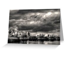 Thames Barrier - Greenwich Greeting Card