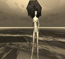 Girl in the rain by Liz4paris