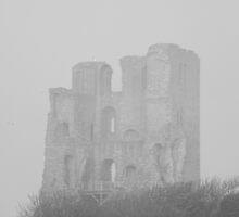 scarborough castle in b&w by darren69