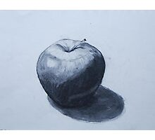 Apple in Charcoal Photographic Print