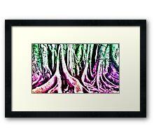 Psychedelic Forest Framed Print
