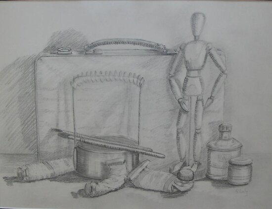 Still Life with Mannikin by Geraldine M Leahy