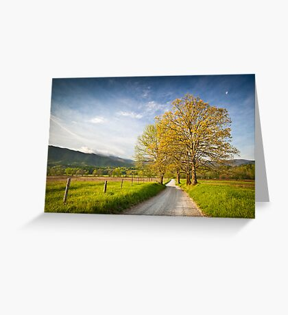 Hyatt Lane in Cade's Cove - Smoky Mountains Greeting Card